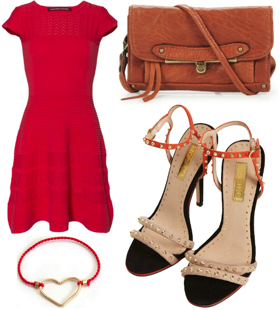 Comptoir des cotonniers robe 2012 topshop heels 2013 bague ring heart coeur abaco sac cuir leather camel