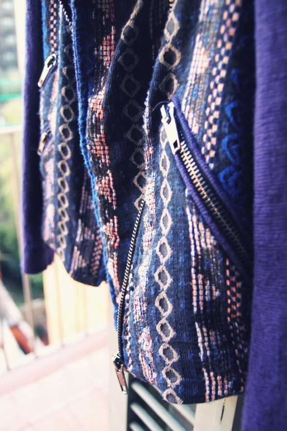 veste jacket perfecto zara aztec bleu blue 2013 spring summer_effected_effected