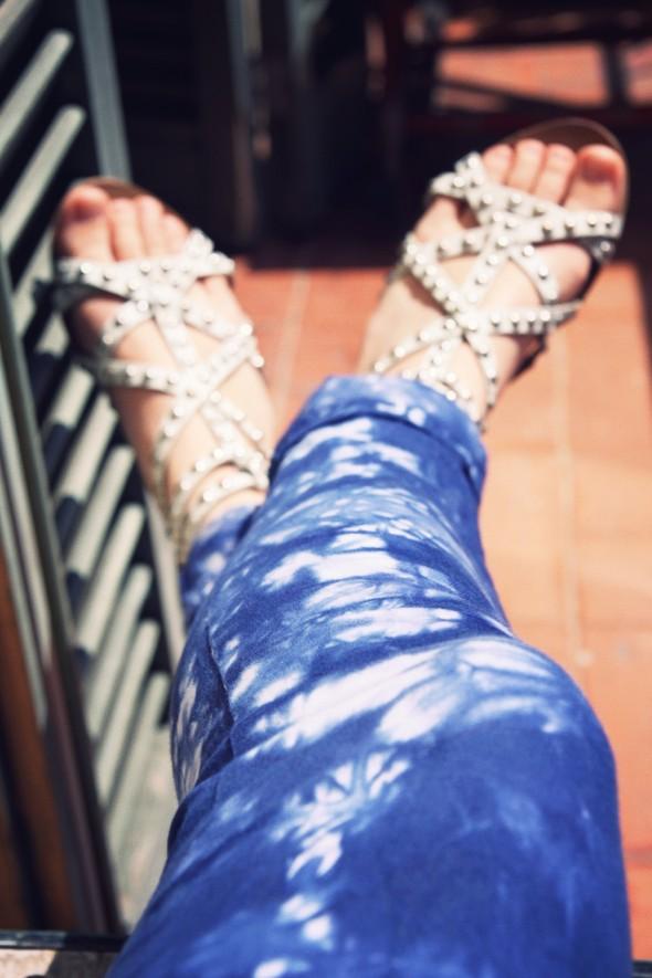 -cimarron pants tie dye die clara pantalon sandales zara h&m blouse blusa_effected