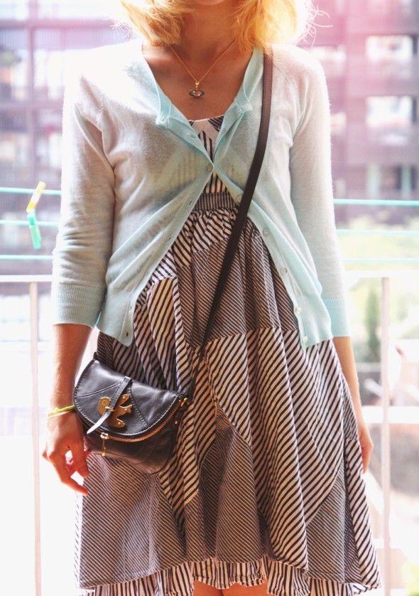 -robe dress vestido asos cardigan turquoise mango_effected