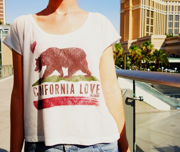 california love billabong shirt 2012 top clothing summer été_effected
