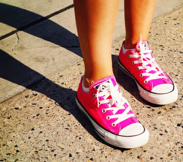 hot pink journey's converse low shoes sneakers fushia fuschia_effected