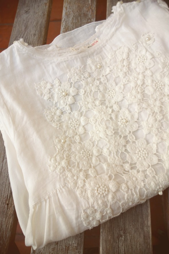 -blouse blusa zara kids women woman white pearls broderie brodée 2013 2014 fall winter_effected