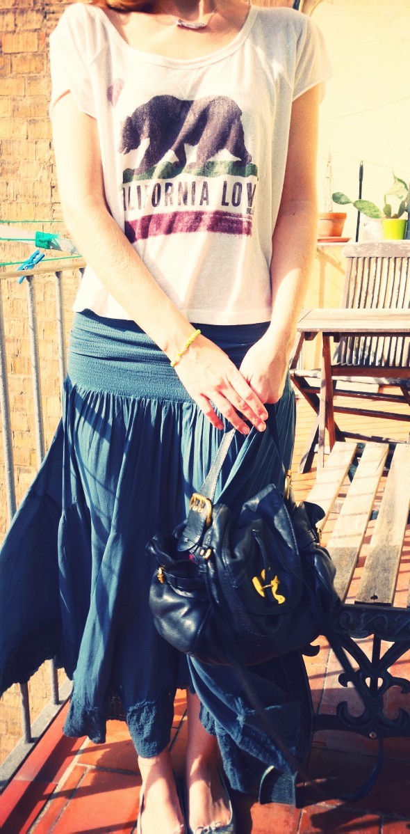 outfit free people skirt convertible viscose maxi billabong california love shirt cropped_effected