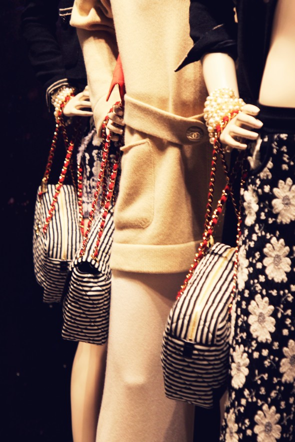 Chanel bag sac fall winter 2013 2014 stripes rayures_effected-001
